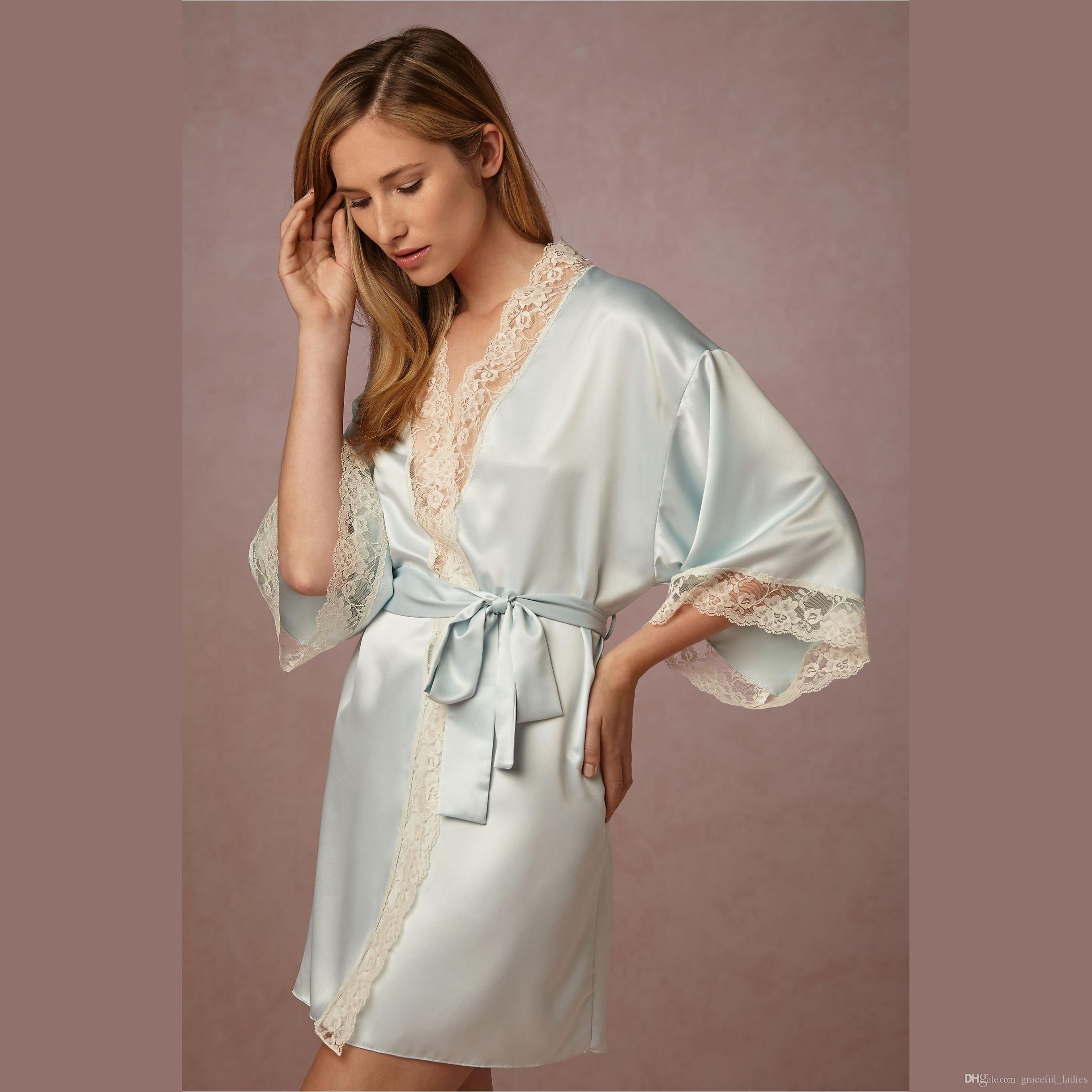 Bridal Shower Light Blue Silk Bridal Undergarments Women