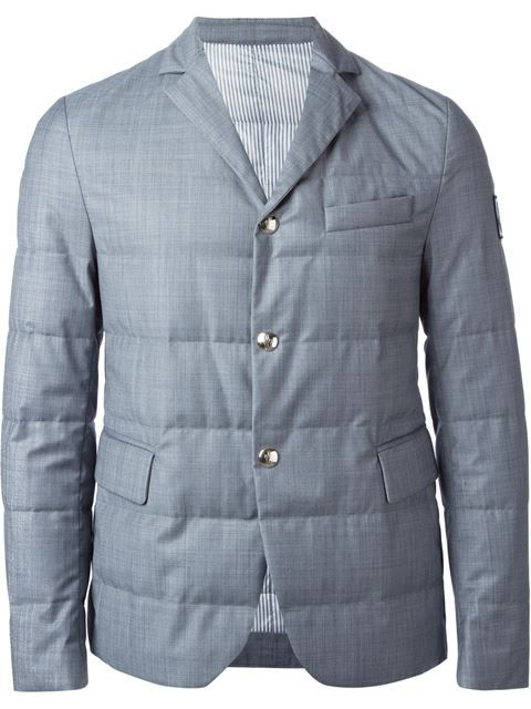 59caeb596 Shop Moncler Gamme Bleu padded blazer in Julian Fashion from the ...
