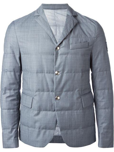 83ead2e7da7 Moncler Gamme Bleu Padded Blazer - Julian Fashion - Farfetch.com ...
