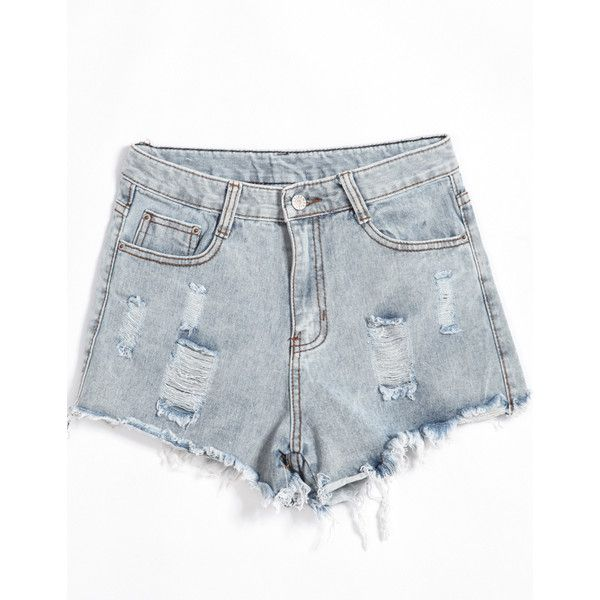 Pockets Ripped Denim Shorts and other apparel, accessories and trends. Browse and shop related looks.