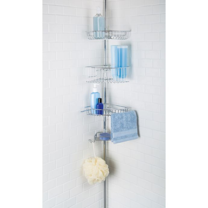 Richards Homewares Lakeview 4 Tier Tension Pole Bed Bath