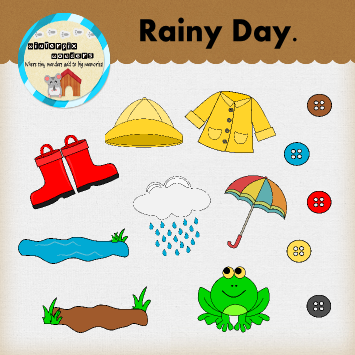 Rainy Day Clipart Mud Puddle Weather Raincoat Rain Coats Kinder Science And Teacher