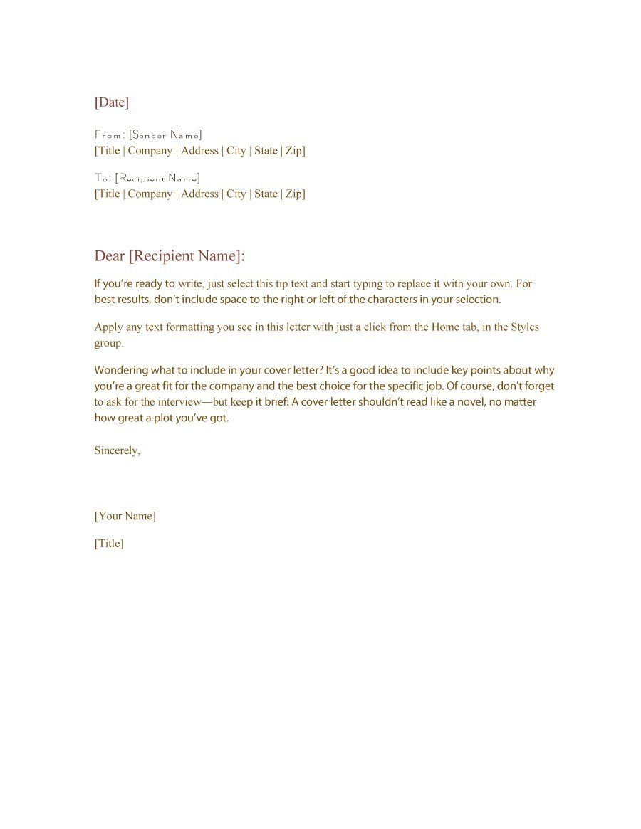 formal business letter format templates amp examples template lab ...