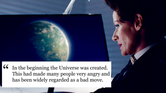 Doctor Who and The Hitchhiker's Guide to the Galaxy.