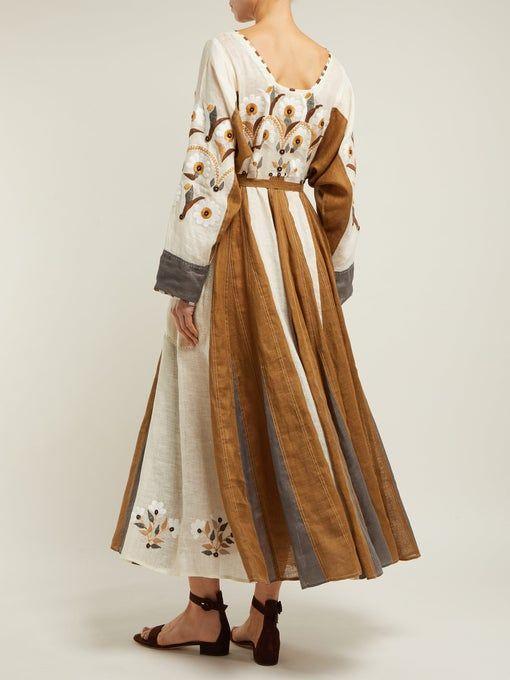 Magnolia embroidered linen dress | Vita Kin | MATCHESFASHION UK