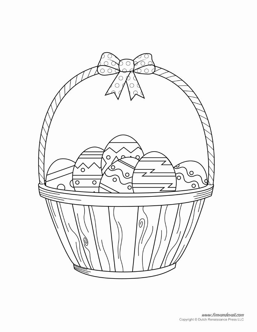 Easter Day Coloring Pages Elegant Easter Basket Coloring Pages to