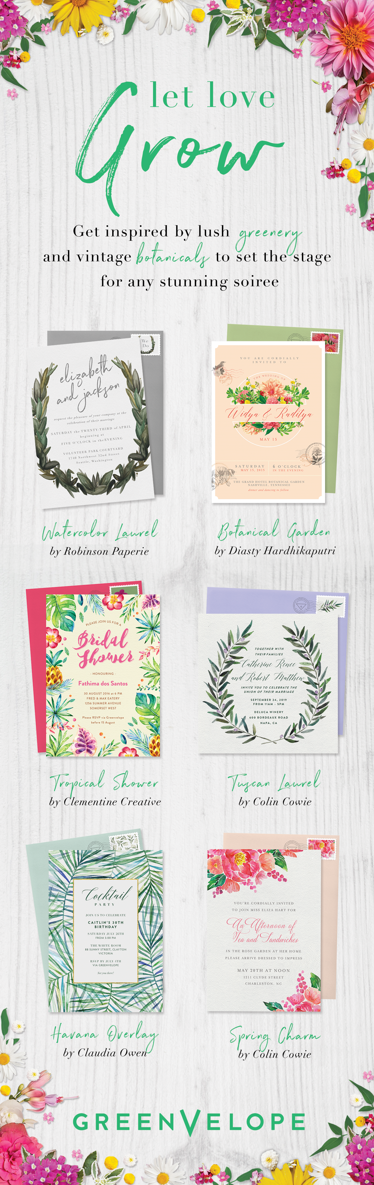 Let love bloom with a garden inspired wedding theme. Greenvelope ...