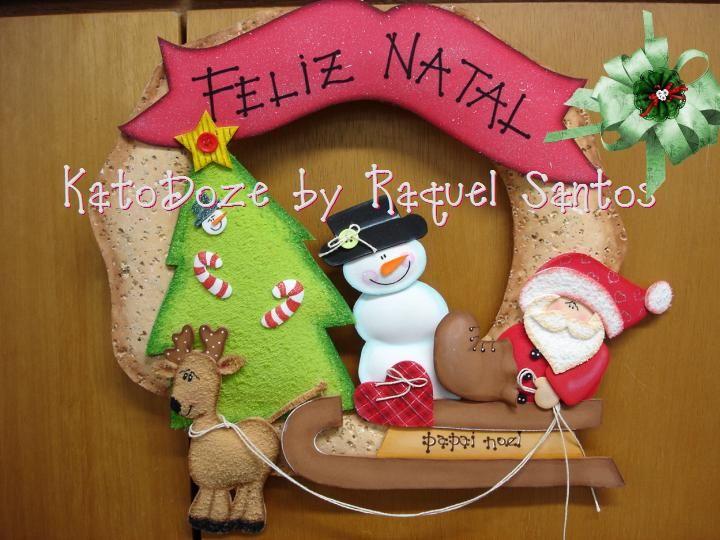 Brindes e Bonecas E.V.A: Natal