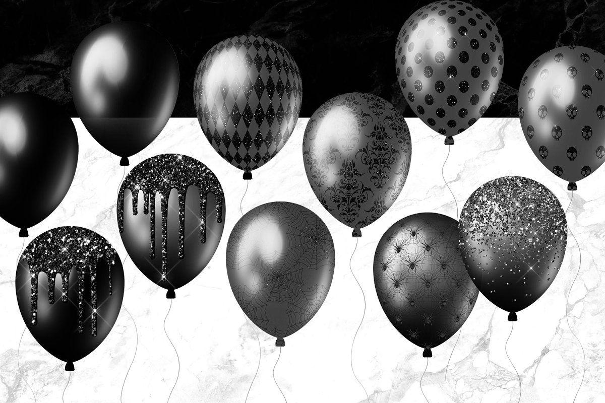 Black balloon clipart in 2020 balloon clipart black