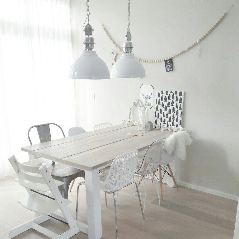 Eettafel stoeltjes scandinavisch wonen wit interieur keuken pinterest scandinavisch - Keuken recup ...