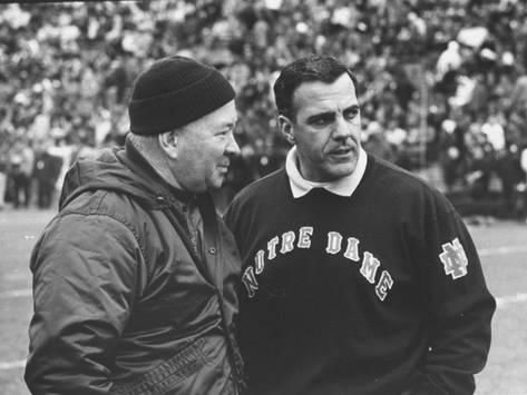 beca2ef51 Photographic Print  Notre Dame Coach Ara Parseghian Poster by John Dominis    16x12in