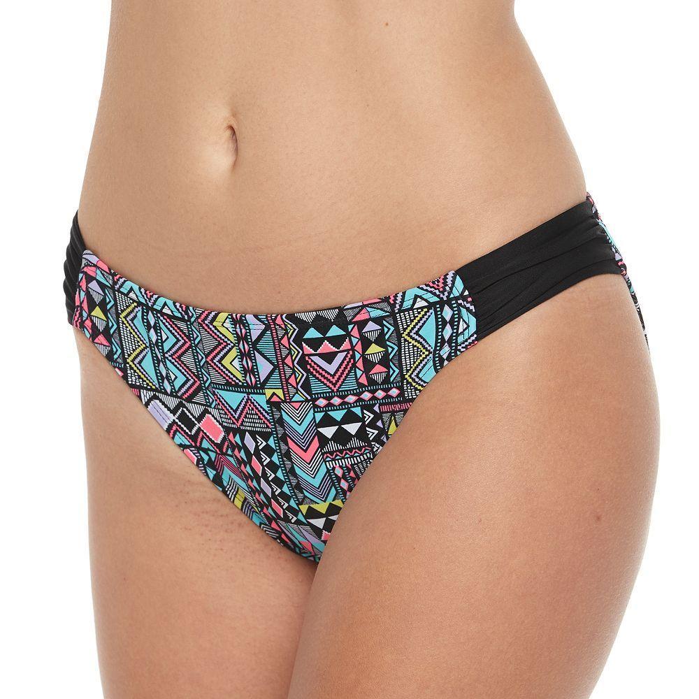 Juniors' Malibu Geometric Bikini Bottoms