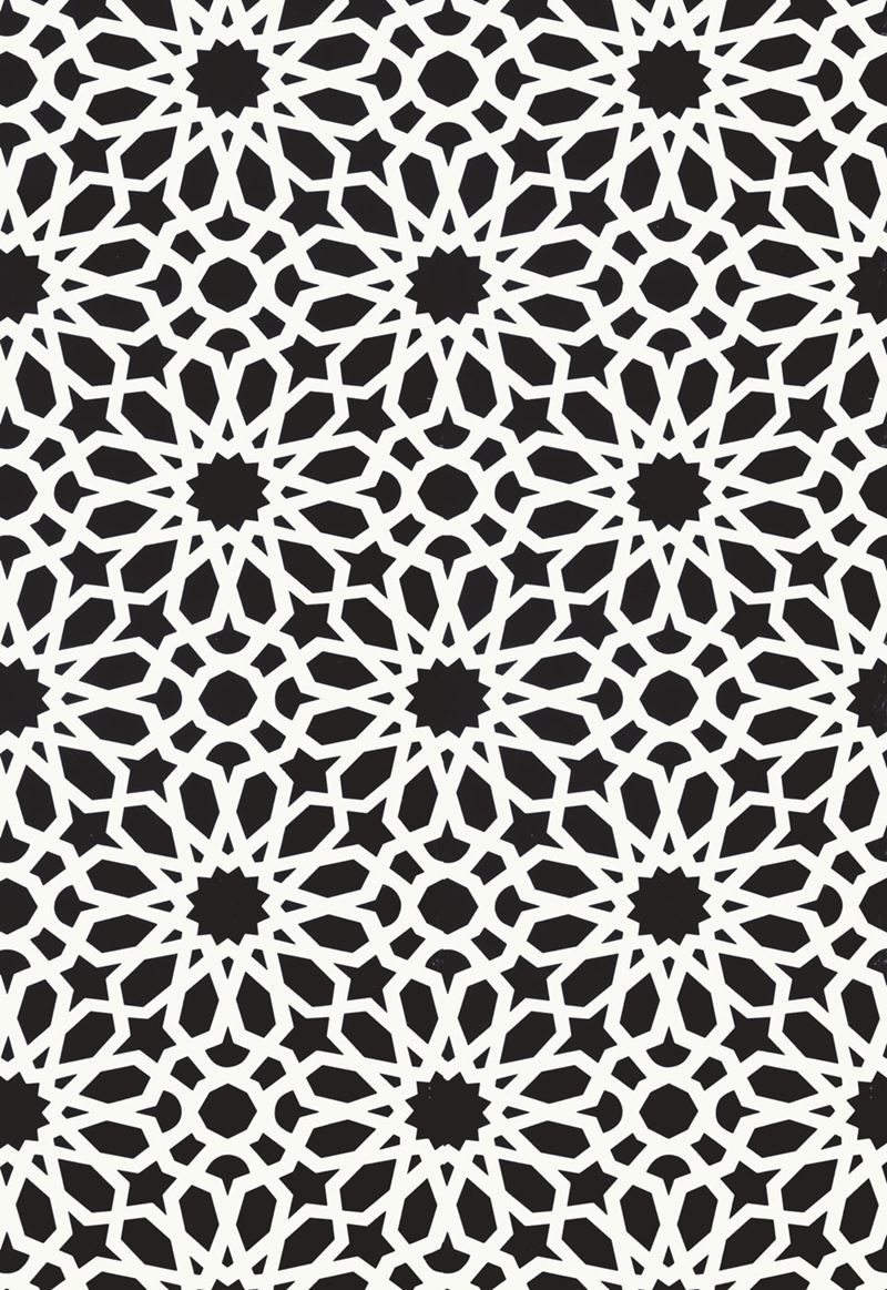 5006642 Agadir Screen Noir By Schumacher Wallpaper Wallpaper Warehouse Geometric Wallpaper Islamic Patterns