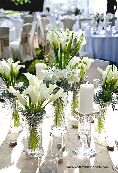 White Lilies Table Setting So Elegant