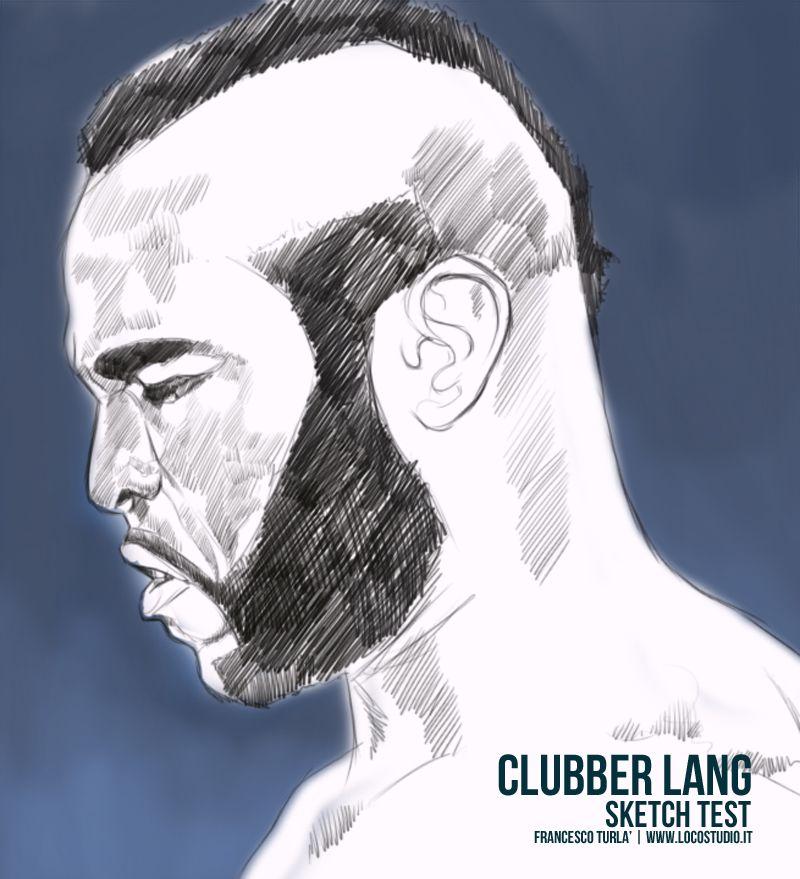 Clubber Lang | Sketch test | Francesco Turlà Illustration