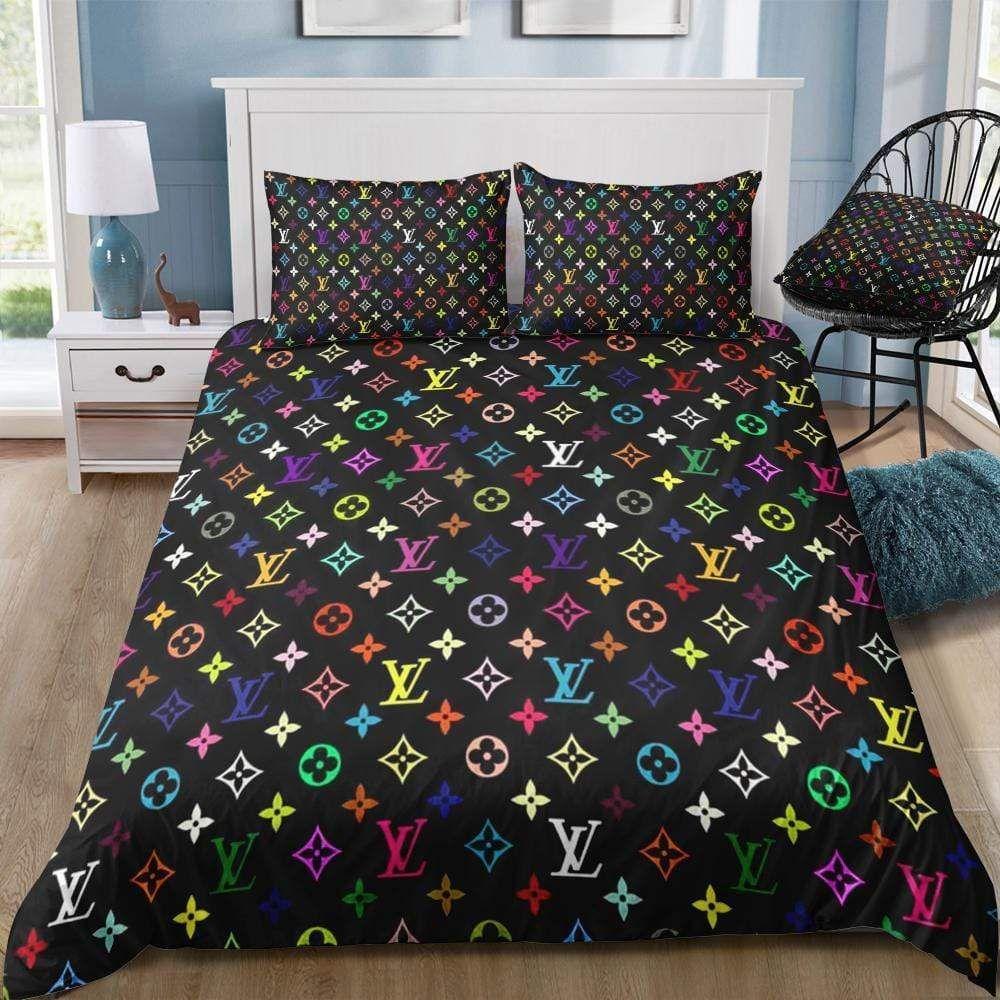 Lv3 Us Twin Lv3 Louis Vuitton Custom Bedding Set 1 Duvet Cover Pillowcases Custom Duvet Custom Bed Bedding Set