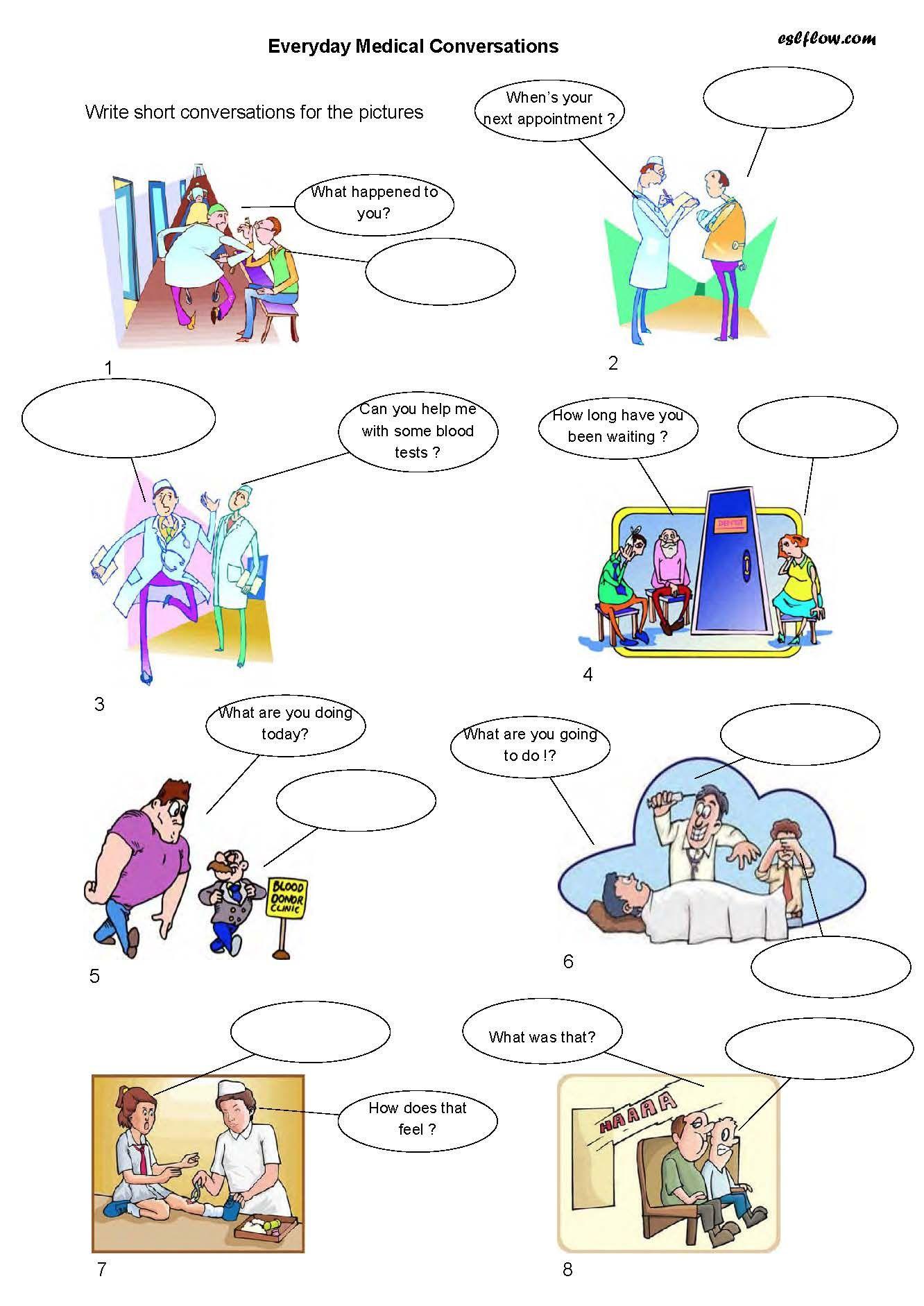 Health---appointments-conversation-worksheet | Strategies ...