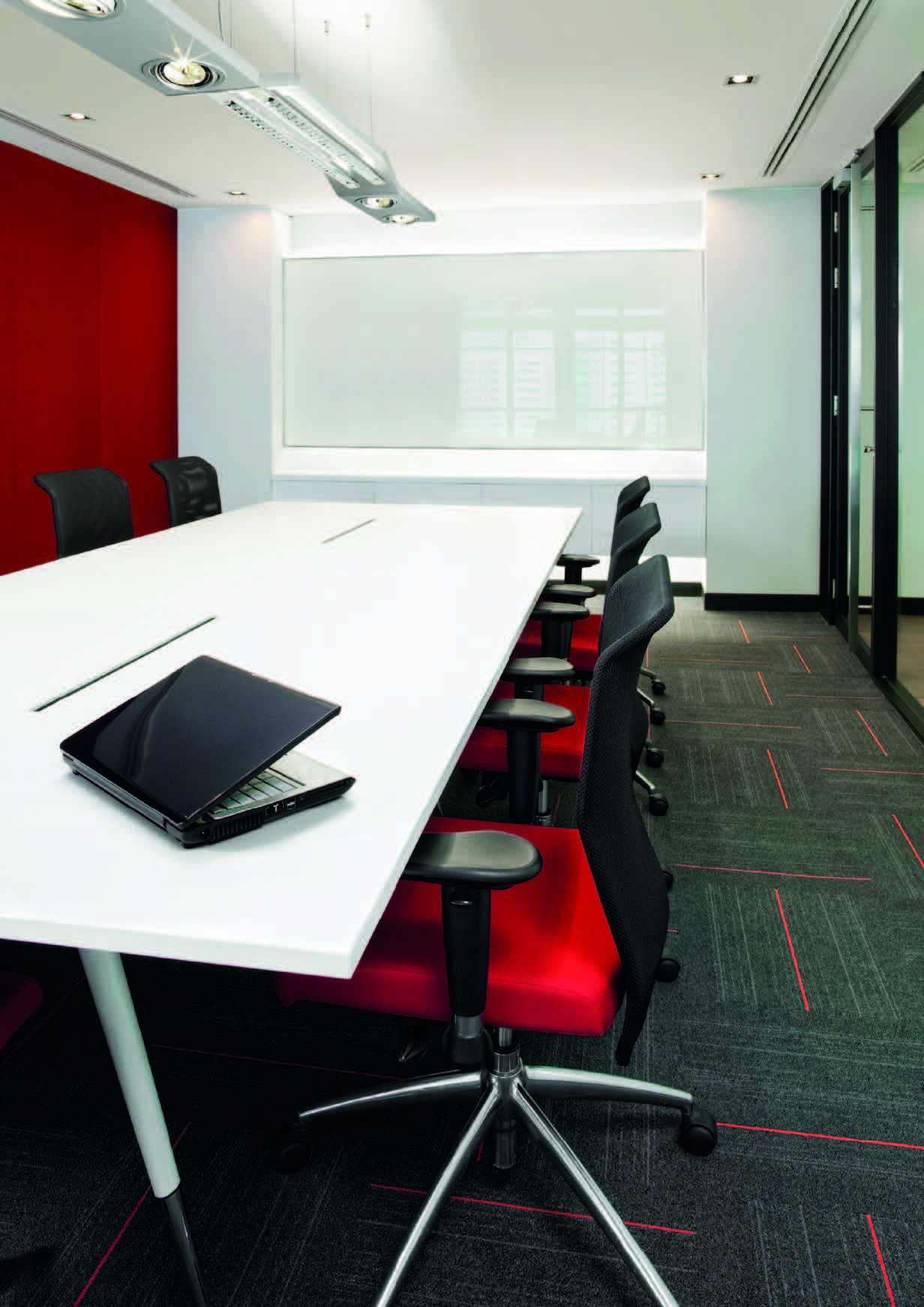 Conference Room Lighting Design: Conference Room Direct/indirect Lighting With Halo