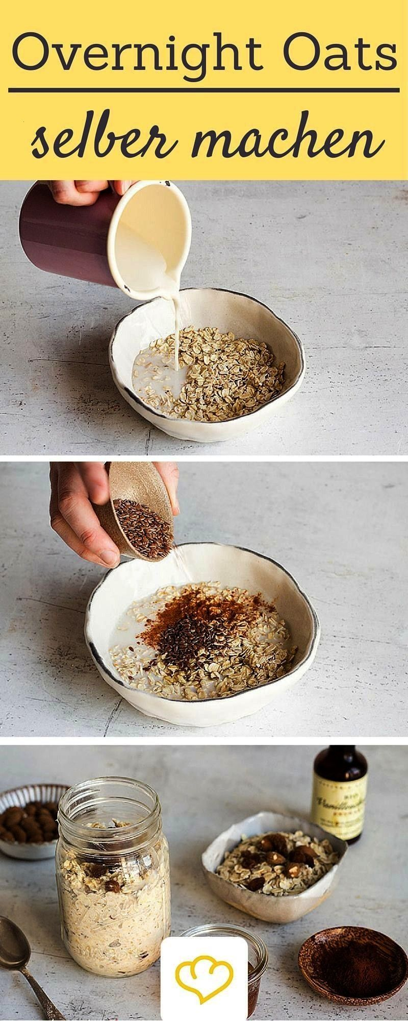 Prepare today enjoy tomorrow  Overnight oats are perfect for meal preparation because they can be easily prepared the evening bef Overnight Oats Prepare today enjoy tomor...