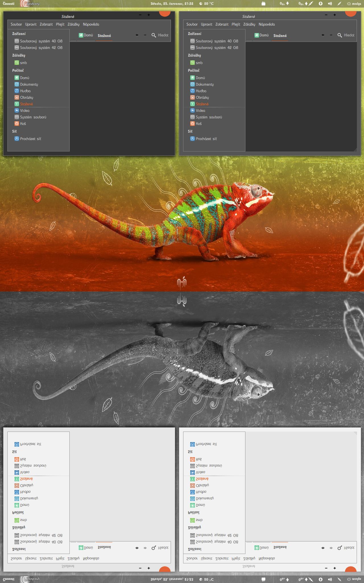 Linux desktop customization | locked | Windows 7 themes, Linux, Windows