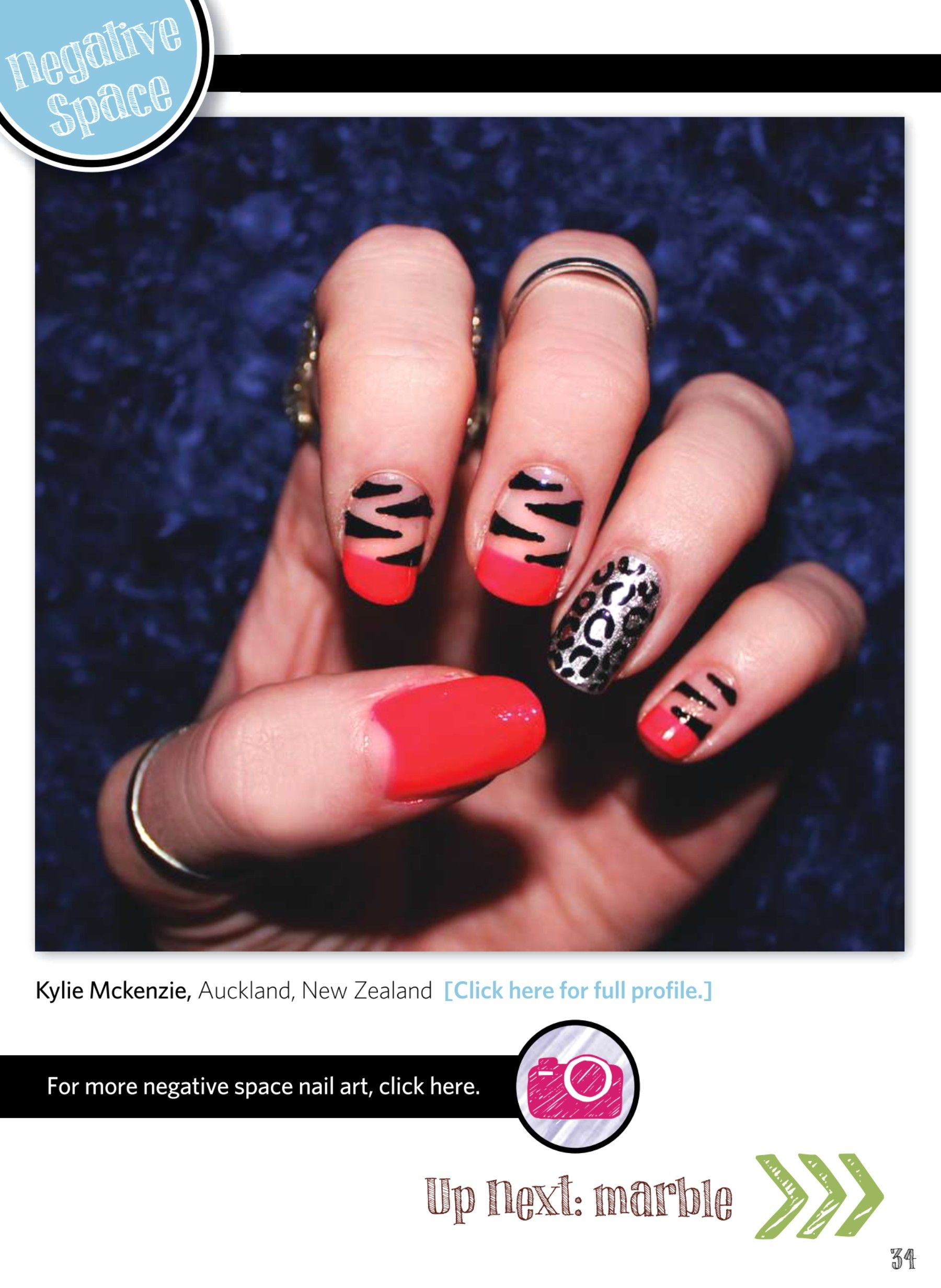 Nail Art Gallery Magazine - JAN 2014 Kinda digging this negative ...