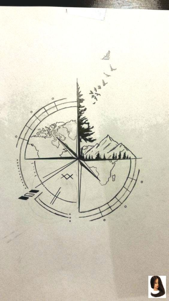 #awesome #Compass #drawing ideas #Ideas #Tattoo 100+ Awesome…- #aw