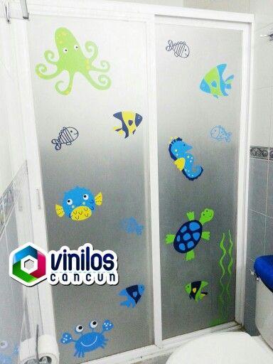 Vinil decorativo ba o infantil vinilos canc n - Cuarto de bano infantil ...