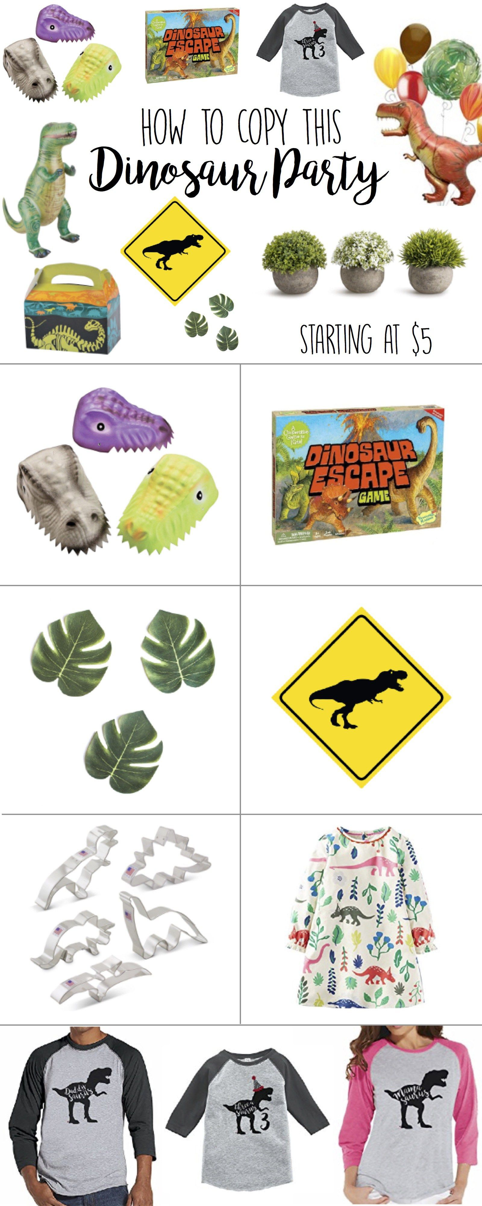 Dinosaur Birthday Party ideas Love the Decorations Ideas Games