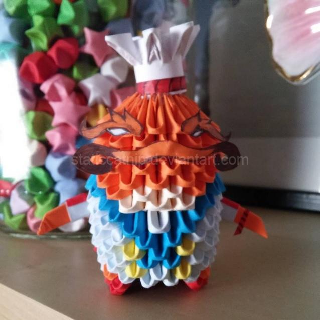 3D Origami: Masterchef Tahm Kench (LoL) by inyeon.deviantart.com on @DeviantArt