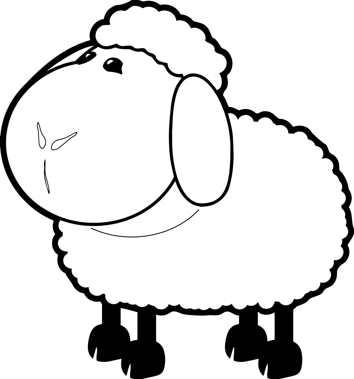 25 Funny Sheep Coloring Pages Your Toddler Will Love Elephant