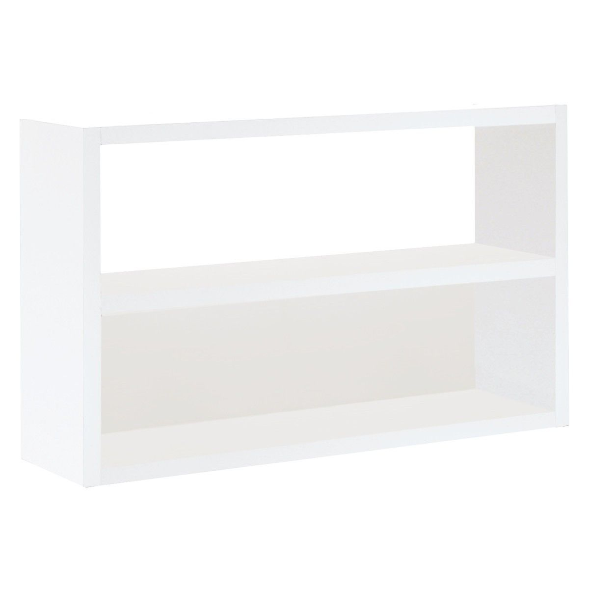 Kitchen Shelves Habitat: ASPEN White High Gloss Low Open Shelving