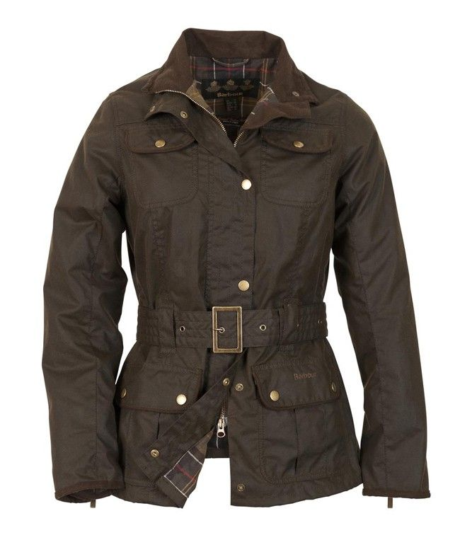Barbour Ladies Belted Utility Jacket In Olive Barbour