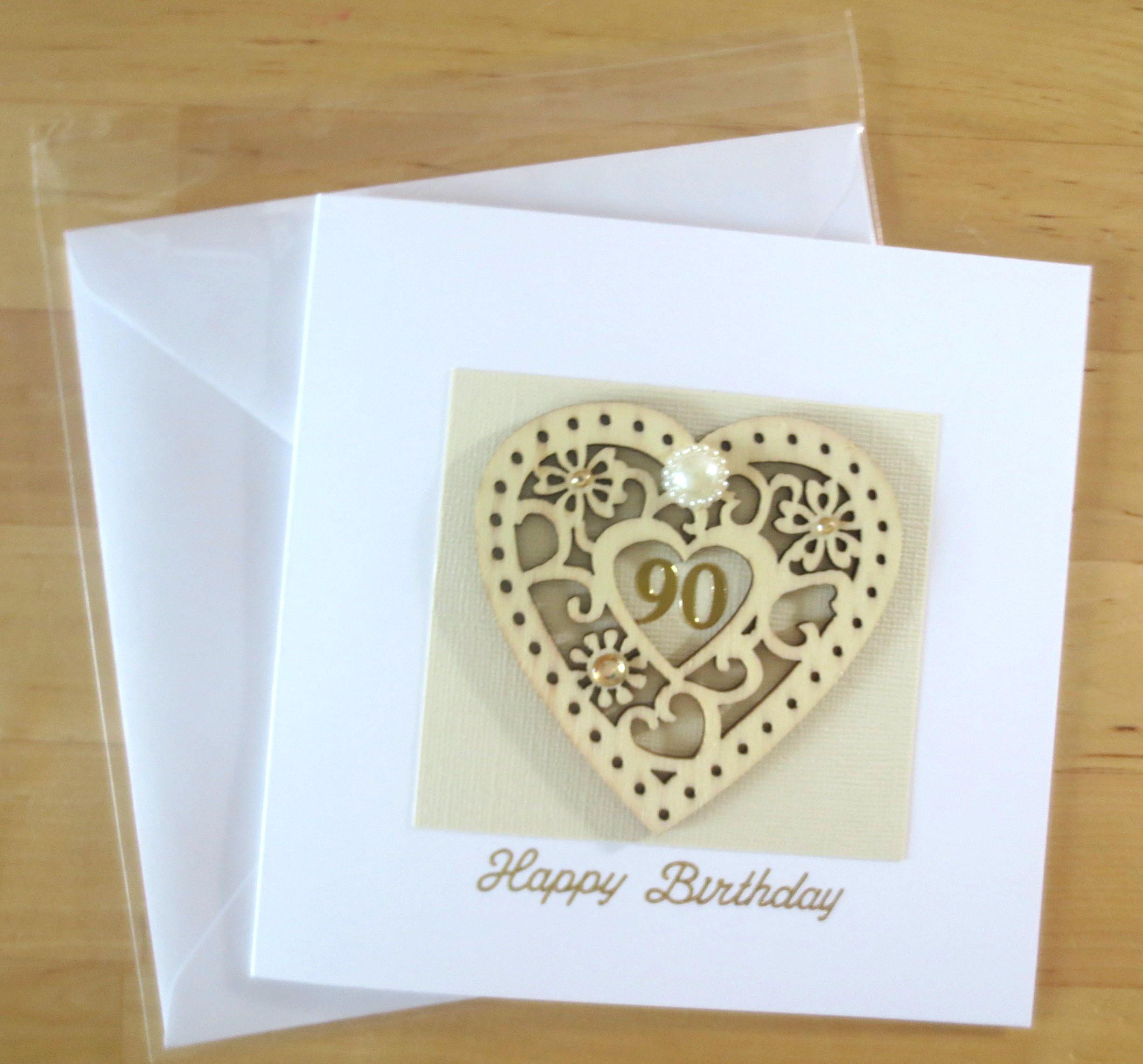 90th Birthday Card Personalised Age 90 Mum Grandma Grandad Gift