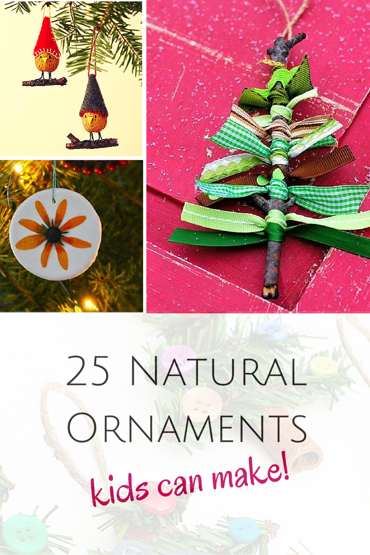 25 Natural Ornaments The Kids Can Make Kids Holiday Gifts School Christmas Gifts Childrens Christmas Crafts