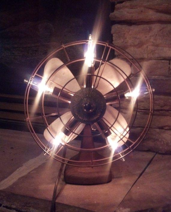 Vintage 5 light fan lamp