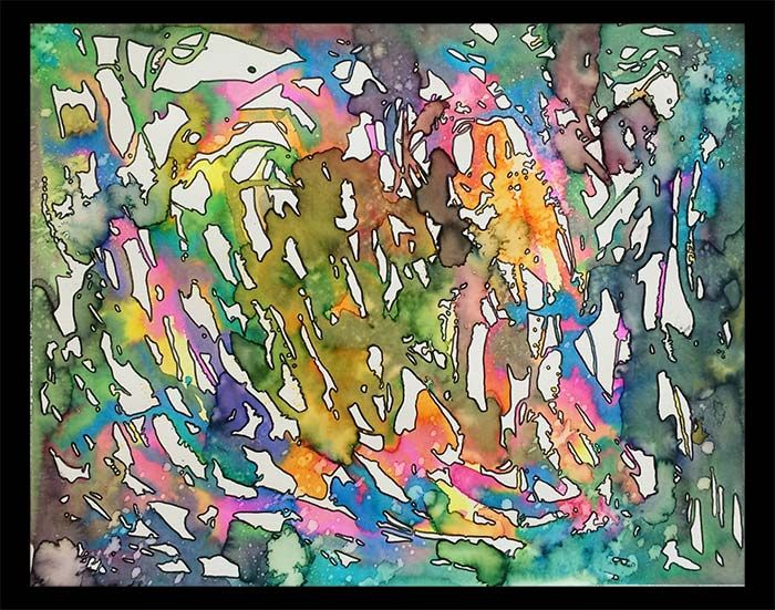 Abstract Watercolor Painting Abstract Art Projects Middle