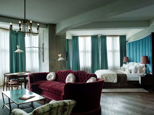 I like the teal with the maroon although I won't always have the couches....I hope.