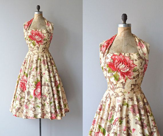 why can't they make clothes like this anymore!?!?!Isle of Eros halter dress 1950s dress David Hart by DearGolden, $338.00