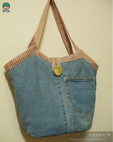 Ideas para hacer bolsos reciclando pantalones vaqueros  5762af25adbf