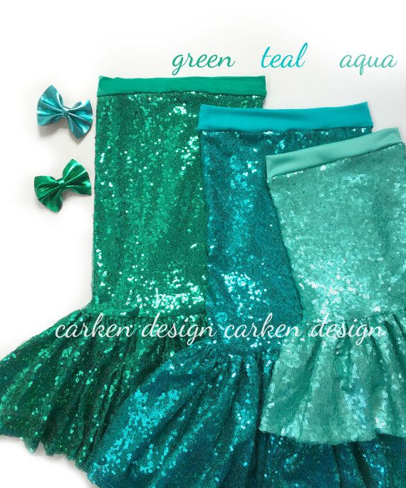 mermaid party mermaid skirt costume mermaid outfit by carkendesign  sc 1 st  Pinterest : toddler mermaid halloween costume  - Germanpascual.Com