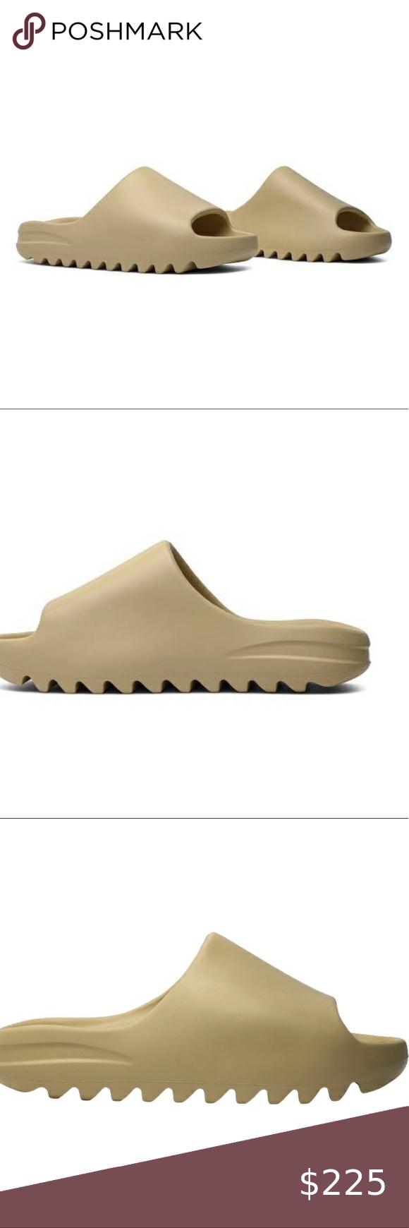 New Yeezy X Adidas Slides Desert Sand Size 9m In 2020 Yeezy Shoes Adidas Slides Mens Yeezy