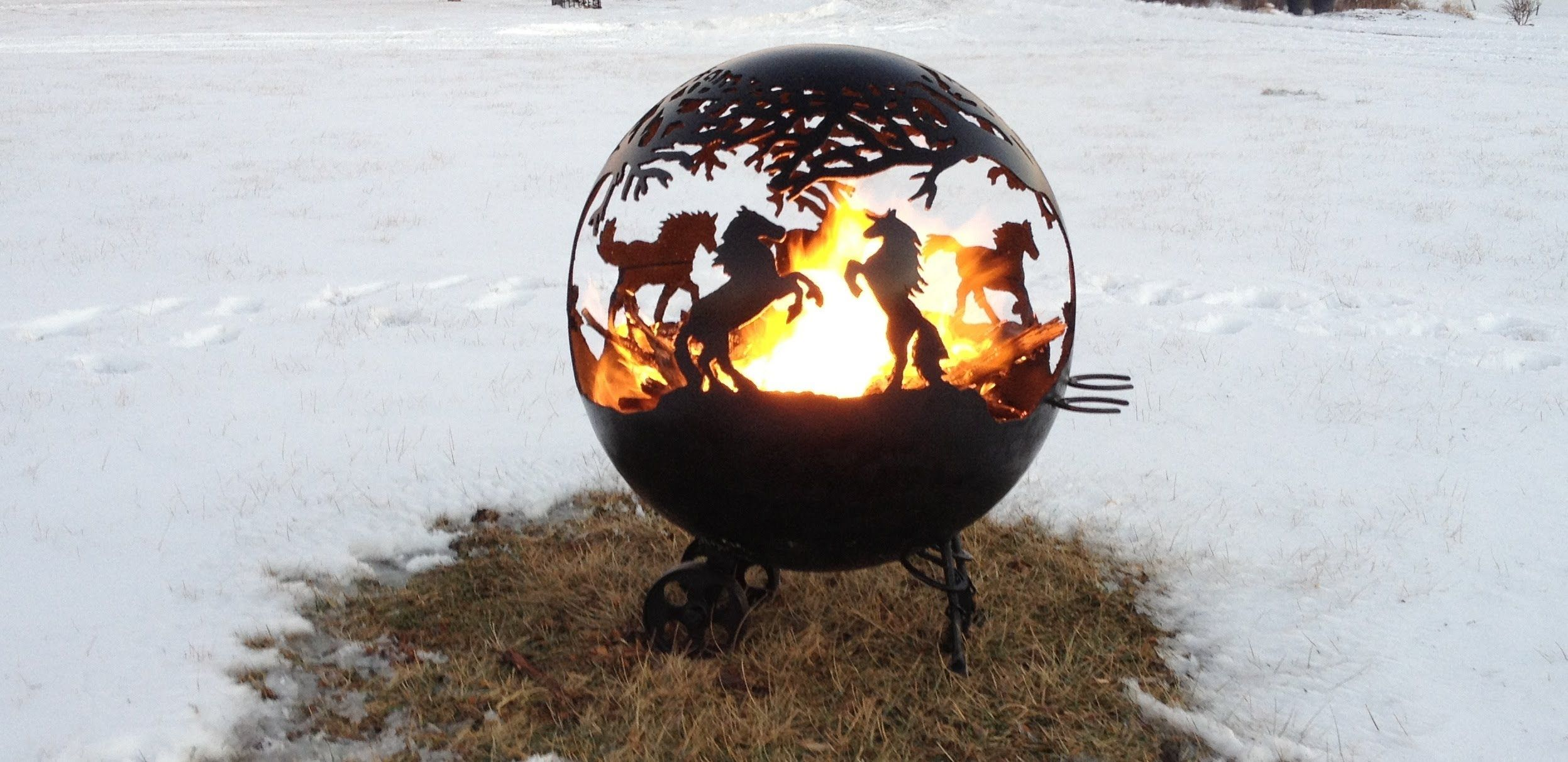 custom horse outdoor fire pit sphere globe how to make it mine will