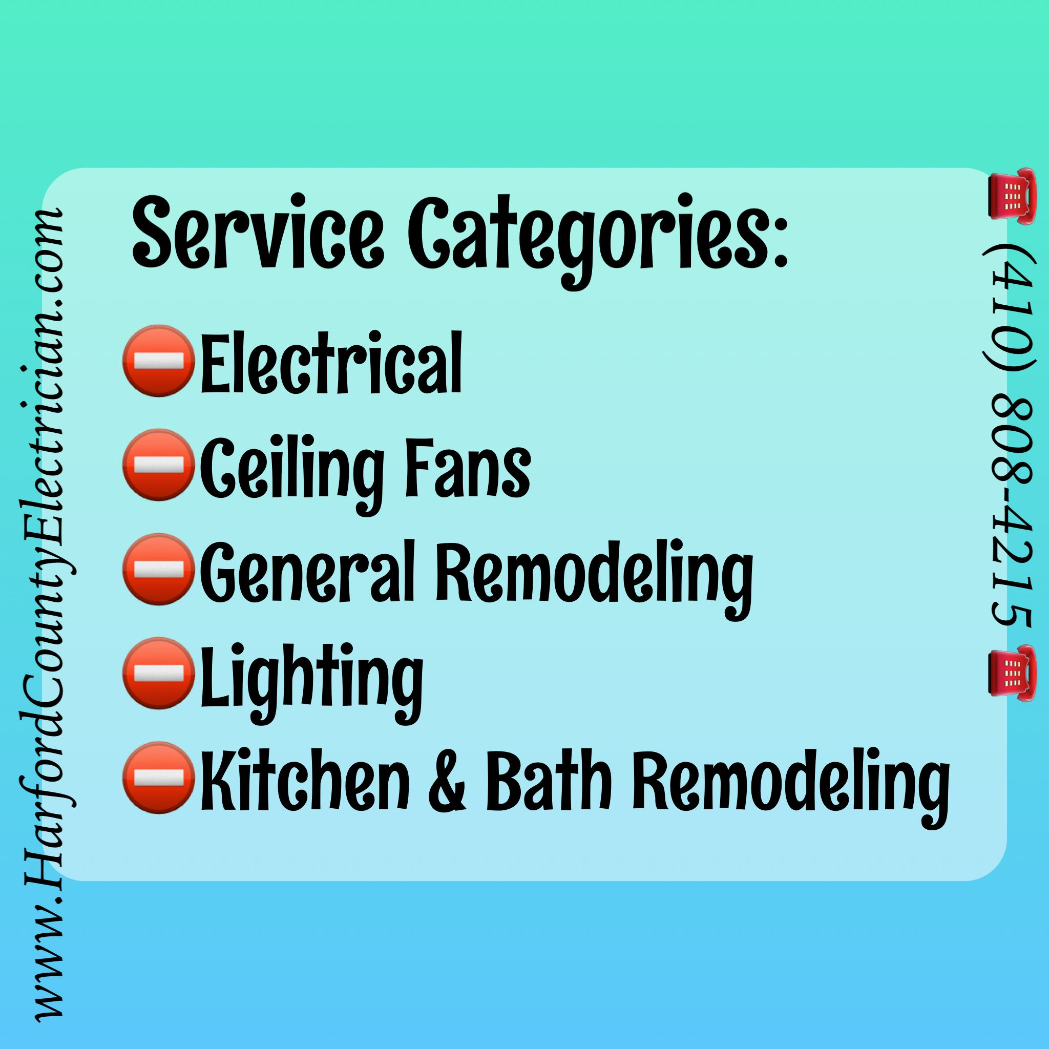 Harford County Electrician, all of our work is installed in ...
