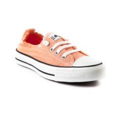 orange converse womens