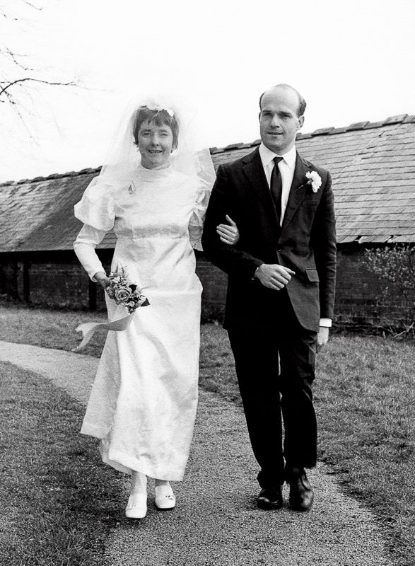 Mum's Wedding 1979. Mum made her own dress and the bouquet was a small spray mounted on a white bible.
