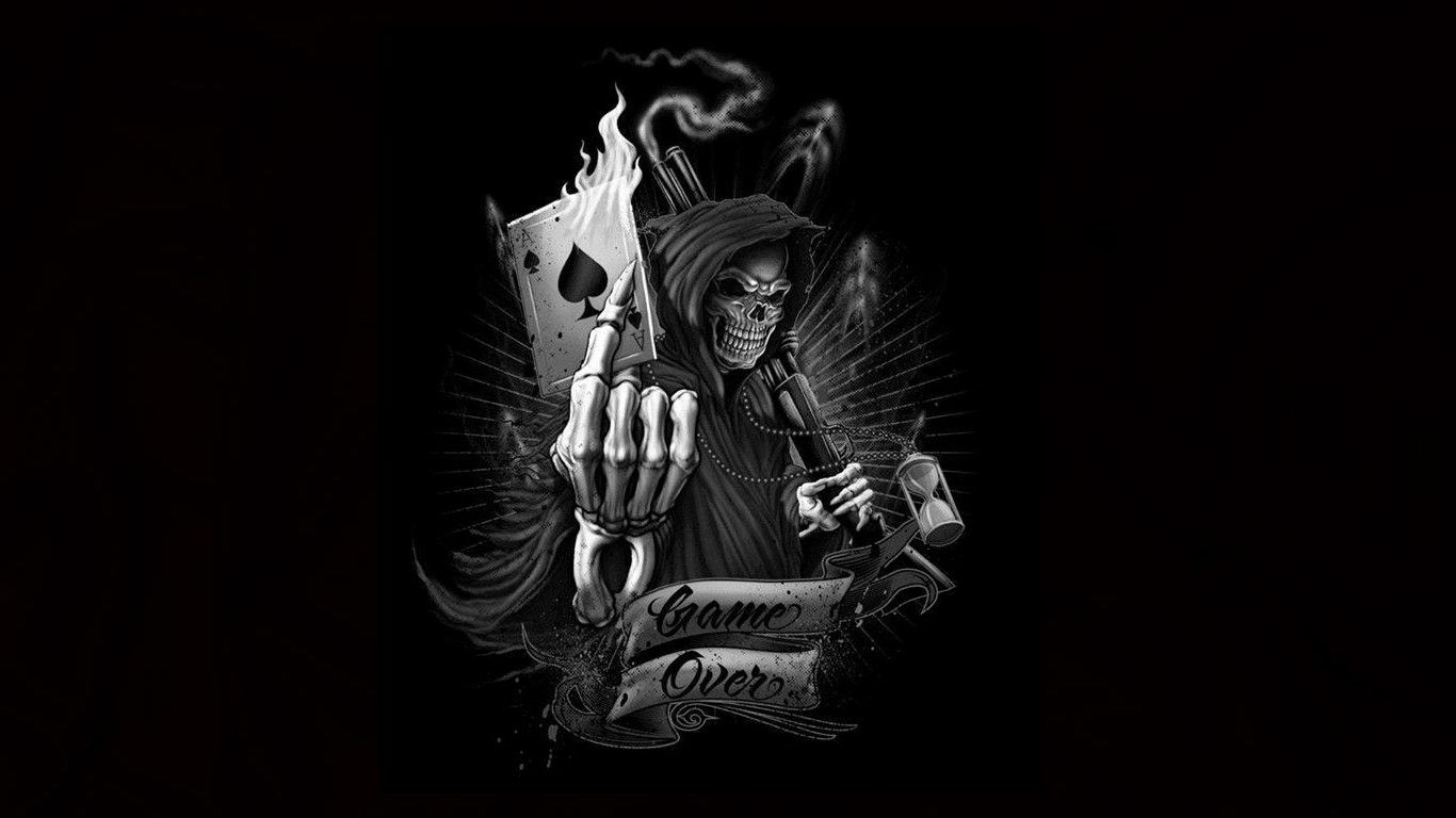 reaper with cards wallpaper - photo #6