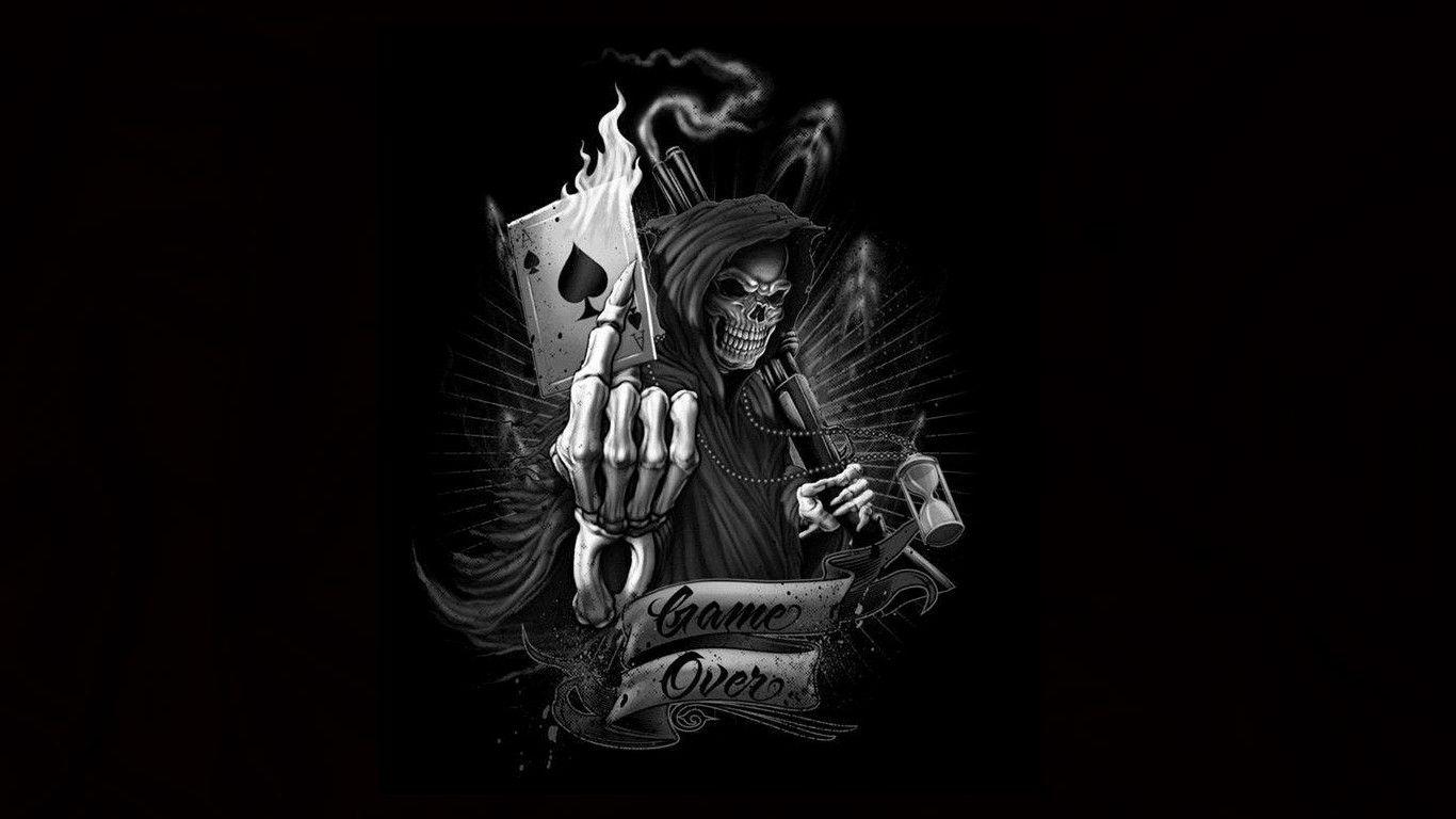 grim reaper wallpaper game over - Google Search | my dreaming | Skull, Grim reaper, Reaper tattoo