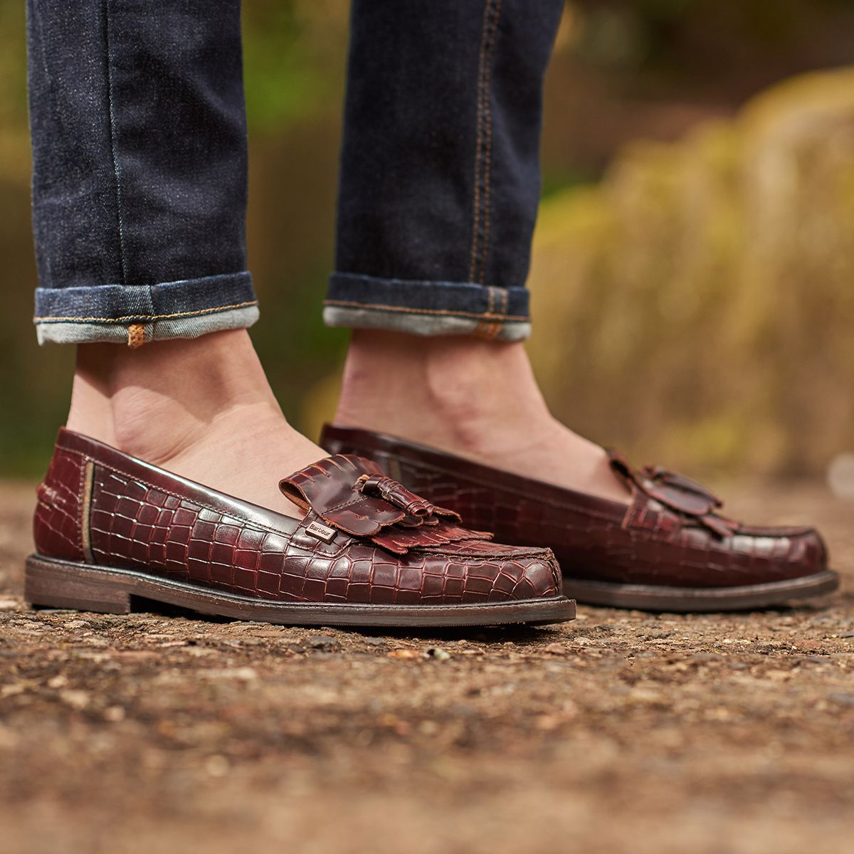 hot sale release date: detailed images The Barbour Olivia Loafer is a timeless style with a leather upper ...