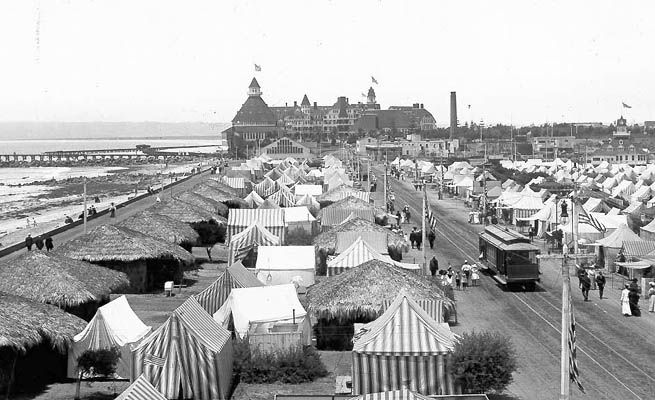 1900 John D. Spreckels and Elisha Babcock open Tent City just south of the Hotel del Coronado.  sc 1 st  Pinterest & Coronado California.......the ideal place for beach living. This ...