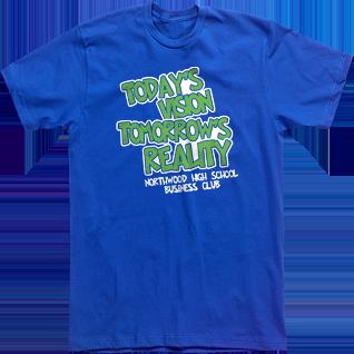 custom t shirt designs tees high school todays vision tomorrows reality business club fbla - High School T Shirt Design Ideas
